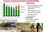 ensure environmental sustainability