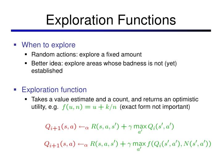 Exploration Functions