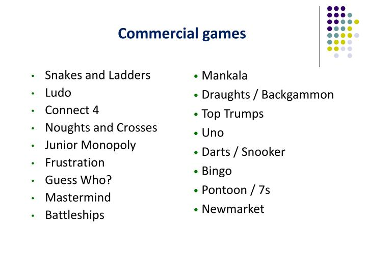 Commercial games