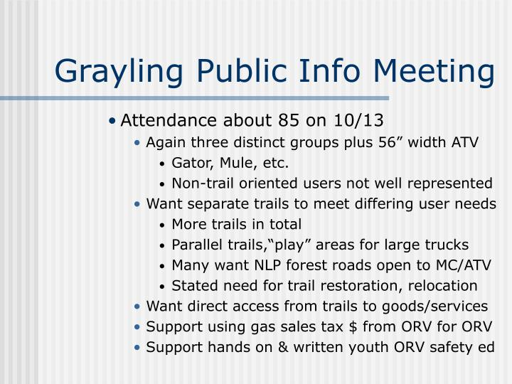 Grayling Public Info Meeting
