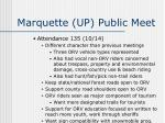 marquette up public meet