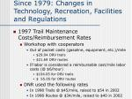 since 1979 changes in technology recreation facilities and regulations4