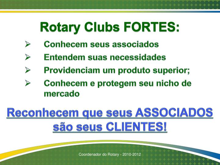 Rotary Clubs FORTES: