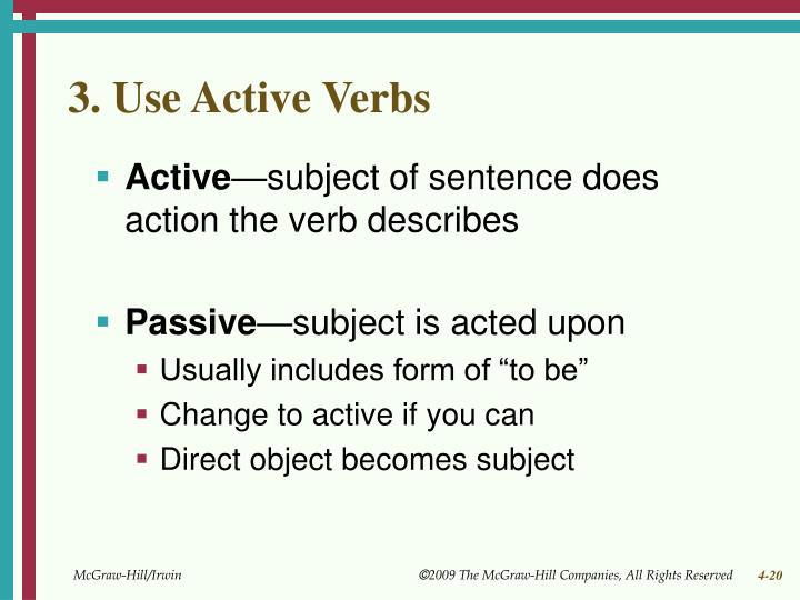 3. Use Active Verbs