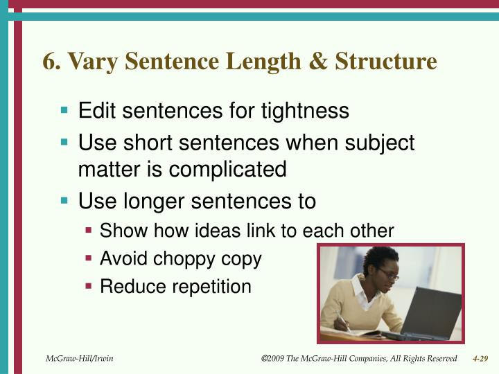 6. Vary Sentence Length & Structure
