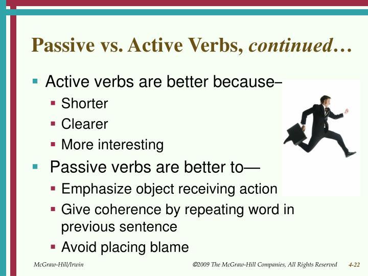 Passive vs. Active Verbs,