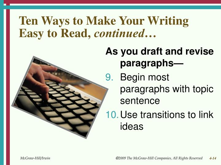Ten Ways to Make Your Writing Easy to Read,