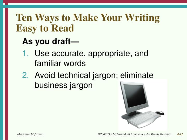Ten Ways to Make Your Writing Easy to Read