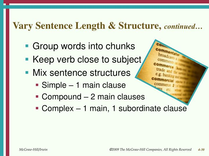 Vary Sentence Length & Structure,