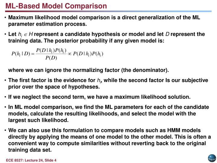 ML-Based Model Comparison