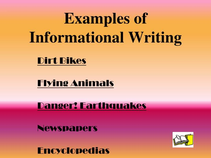 Examples of Informational Writing