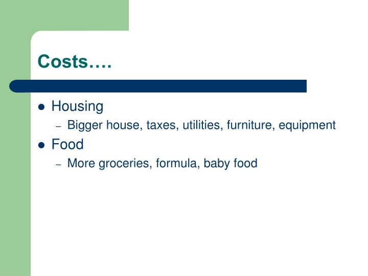 Costs….