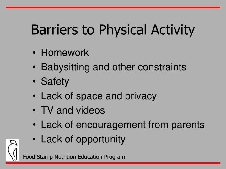 Barriers to Physical Activity