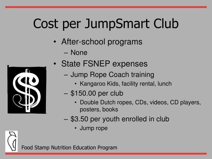Cost per JumpSmart Club