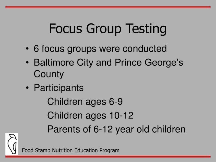 Focus Group Testing
