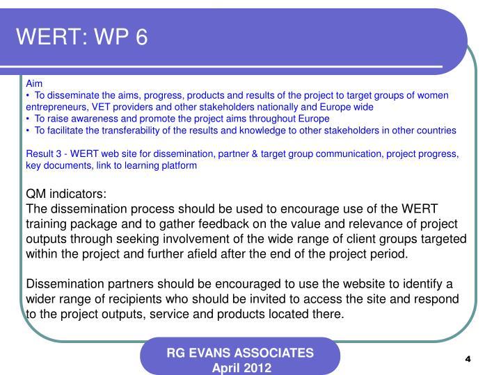 WERT: WP 6