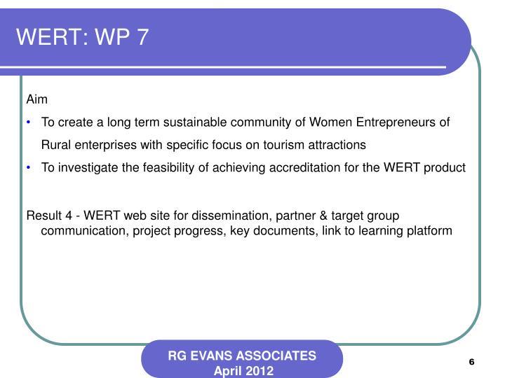 WERT: WP 7