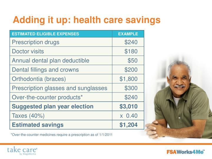 Adding it up: health care savings