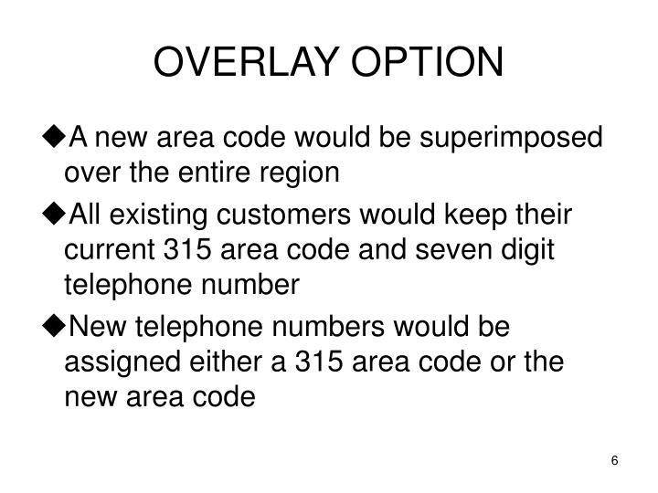 OVERLAY OPTION