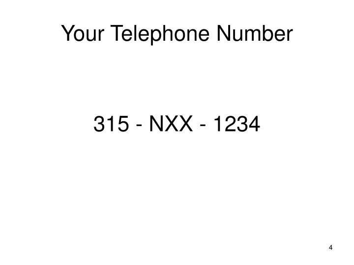 Your Telephone Number