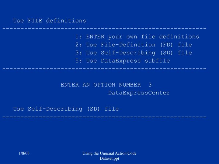 Use FILE definitions