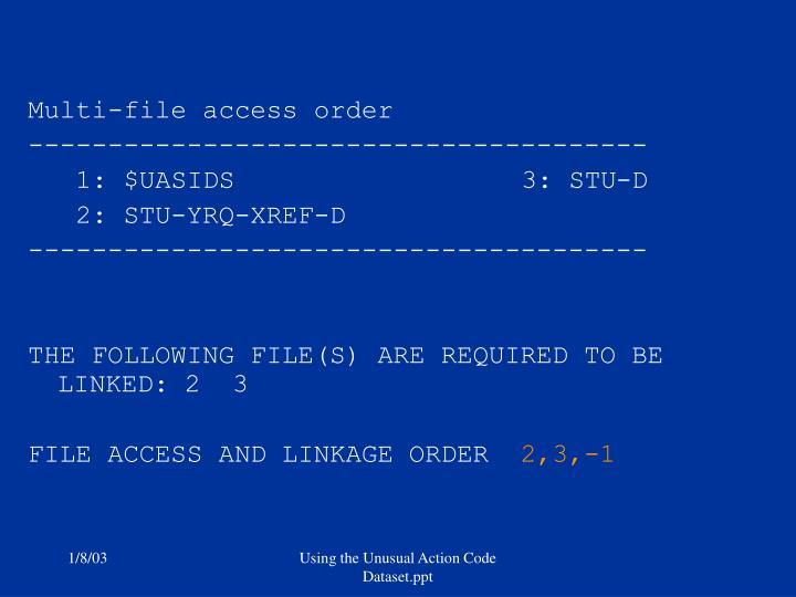 Multi-file access order