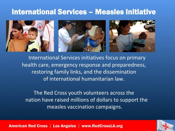 International Services – Measles Initiative