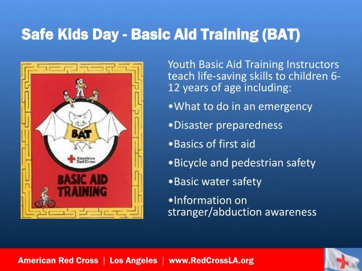 Safe Kids Day - Basic Aid Training (BAT)