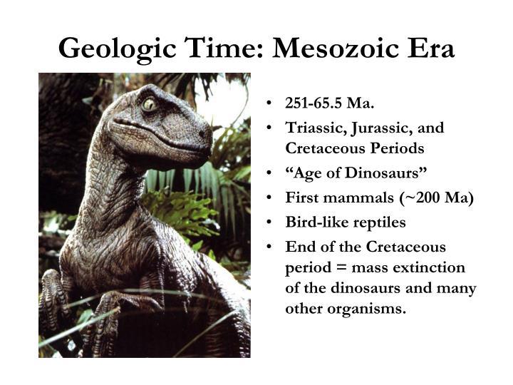 Geologic Time: Mesozoic Era