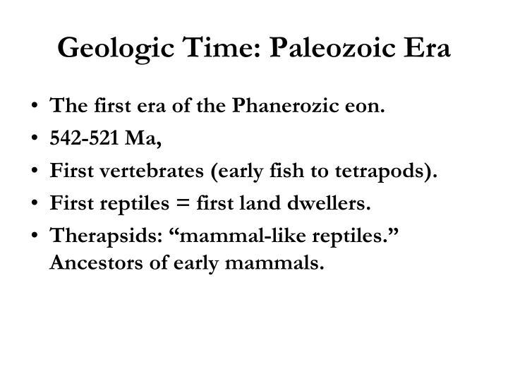Geologic Time: Paleozoic Era