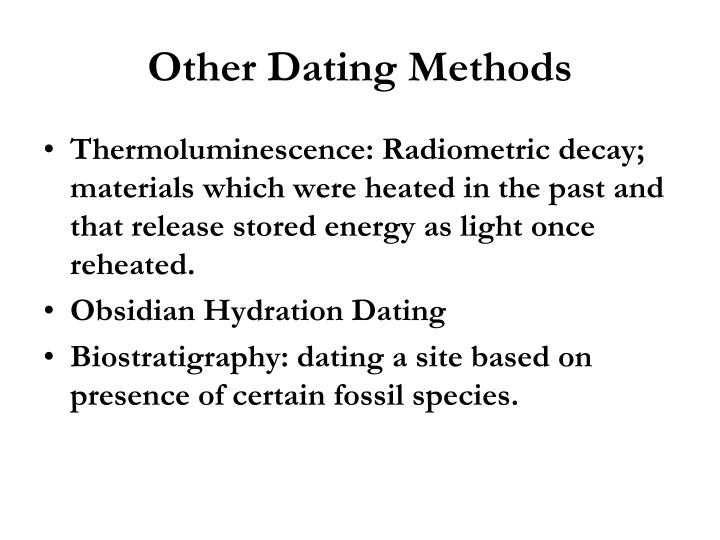 Other Dating Methods