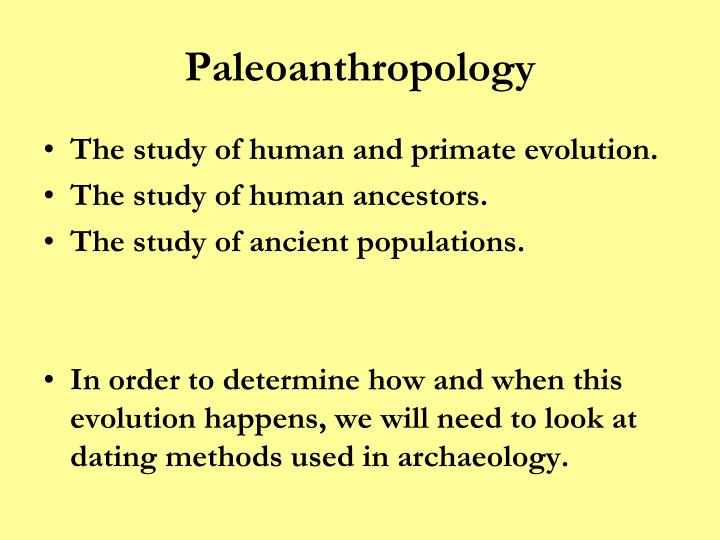 Paleoanthropology