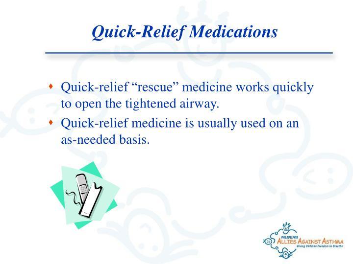Quick-Relief Medications