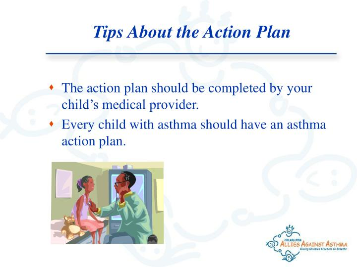 Tips About the Action Plan