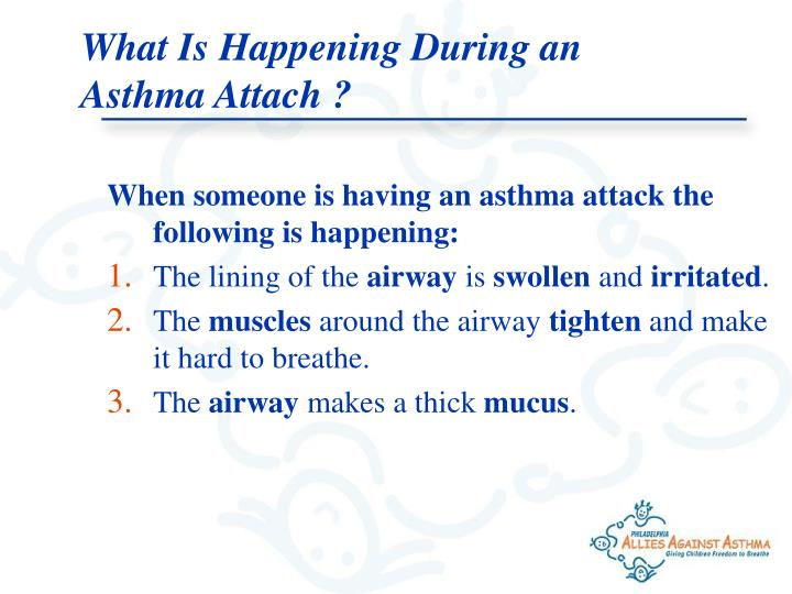 What Is Happening During an Asthma Attach ?