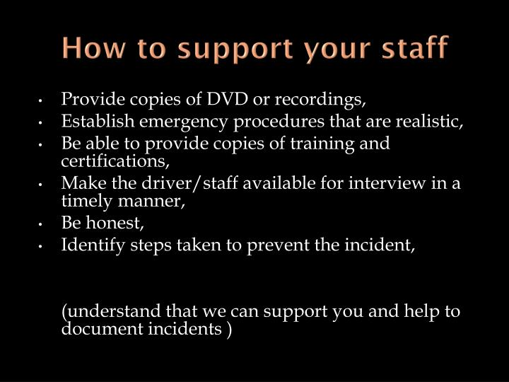 How to support your staff