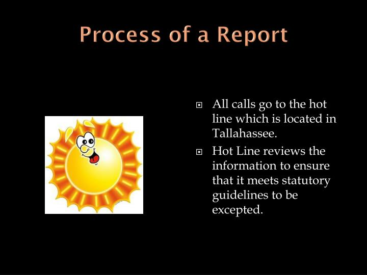 Process of a Report