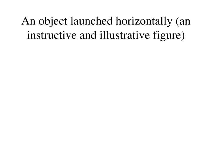 An object launched horizontally (an instructive and illustrative figure)