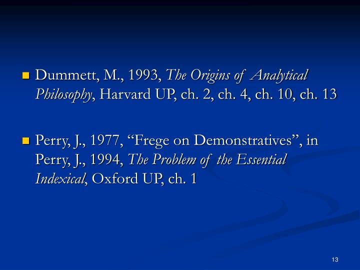 Dummett, M., 1993,