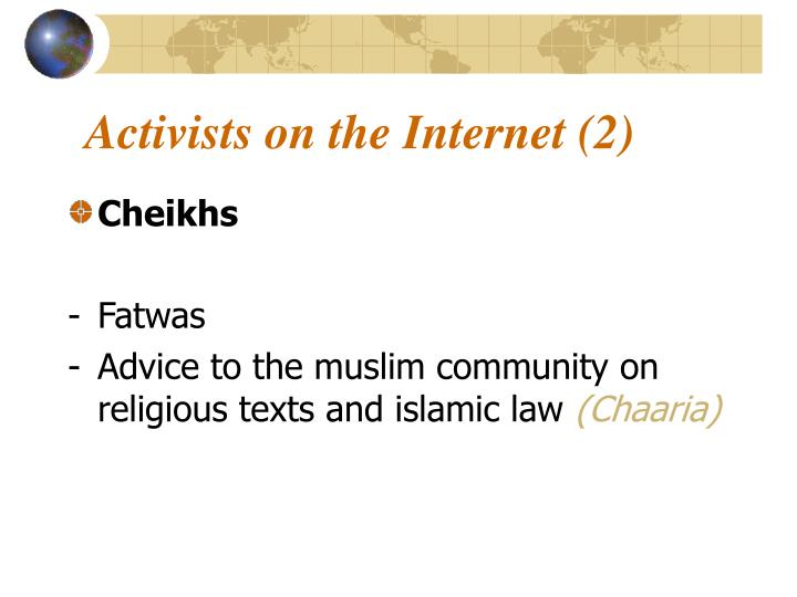 Activists on the Internet (2)