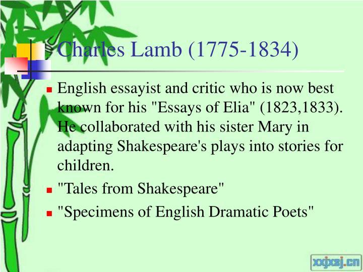 Charles Lamb (1775-1834)