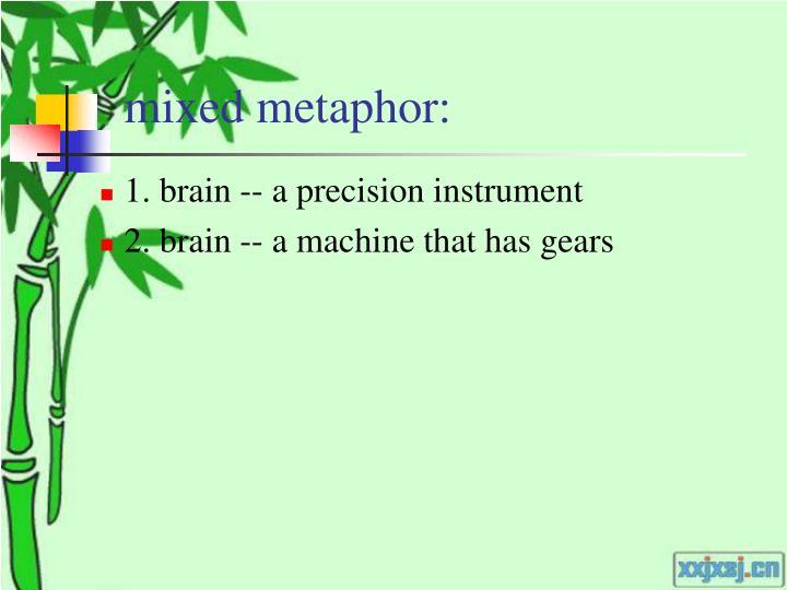 mixed metaphor: