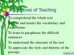 objectives of teaching
