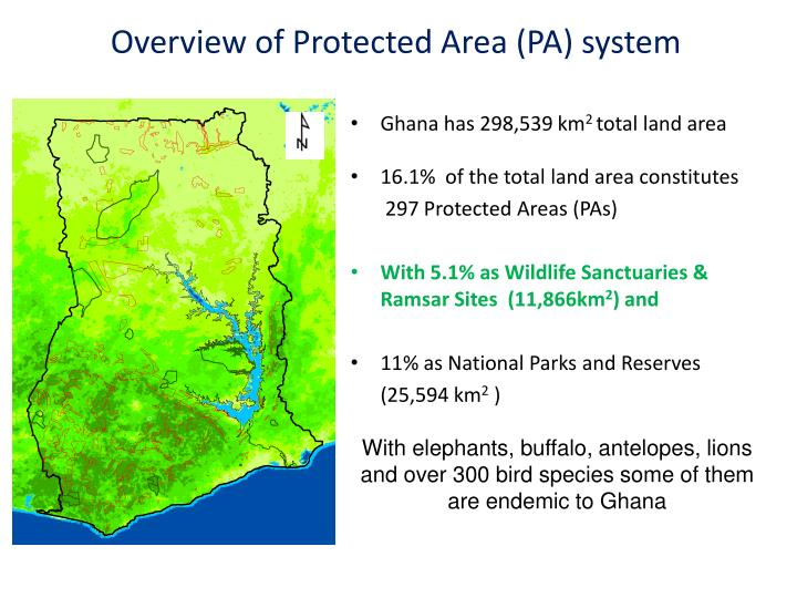 Overview of Protected Area (PA) system