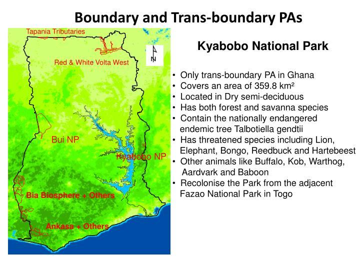 Boundary and Trans-boundary PAs