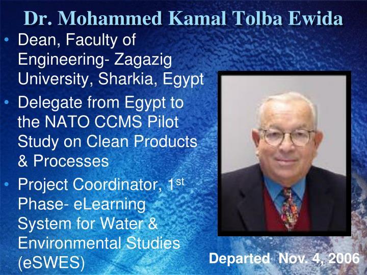 Dr. Mohammed Kamal Tolba Ewida
