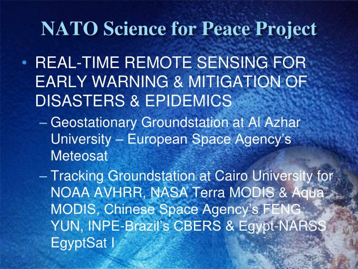 NATO Science for Peace Project