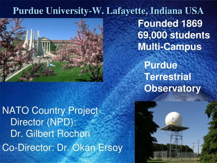 Purdue University-W. Lafayette, Indiana USA