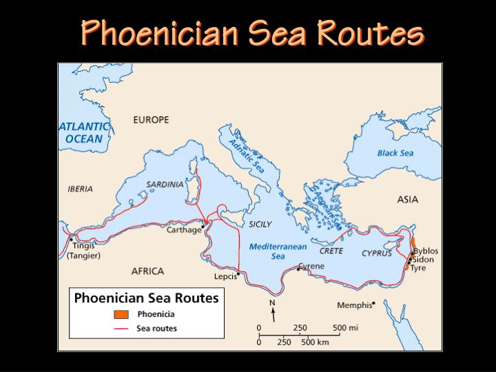Phoenician Sea Routes