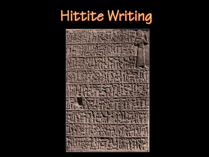 Hittite Writing